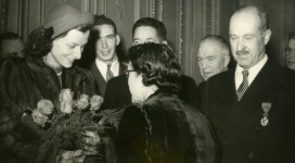 Drew and Luvie Pearson Paris Dec 19 1947
